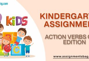 Action Verbs Girls Edition Assignments Download PDF
