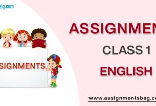 Assignments For Class 1 English