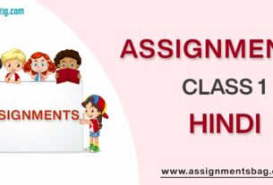 Assignments For Class 1 Hindi