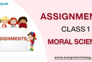 Assignments For Class 1 Moral Science