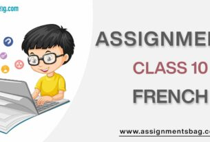 Assignments For Class 10 French