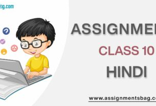 Assignments For Class 10 Hindi