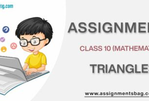 Assignments For Class 10 Mathematics Triangles