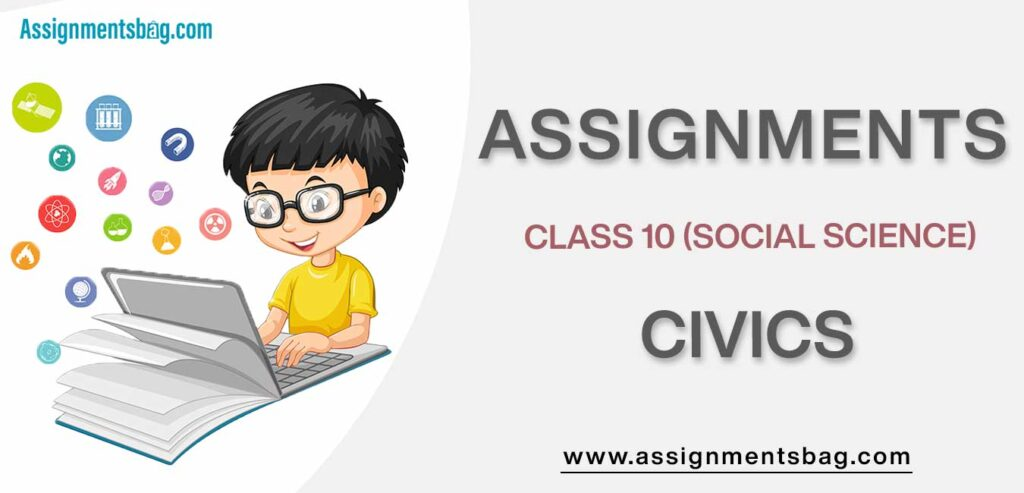 Assignments For Class 10 Social Science Civics