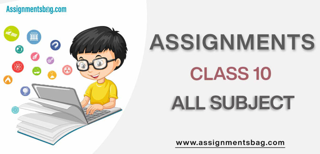 Assignments For Class 10 all subject