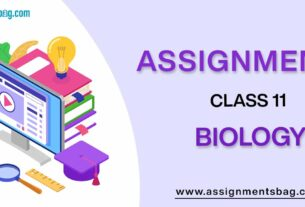 Assignments For Class 11 Biology