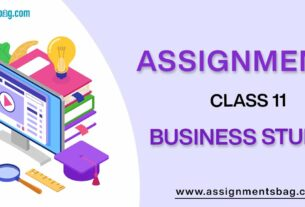Assignments For Class 11 Business Studies