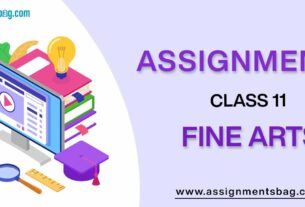 Assignments For Class 11 Fine Arts