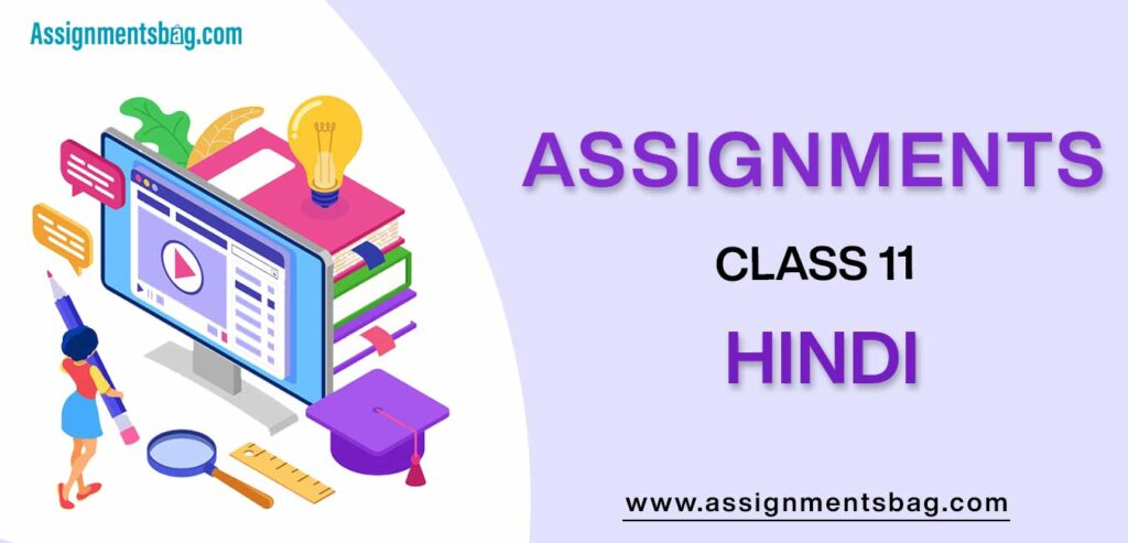 Assignments For Class 11 Hindi