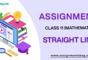 Assignments For Class 11 Mathematics Straight Lines