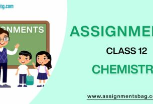 Assignments For Class 12 Chemistry