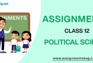 Assignments For Class 12 Political Science