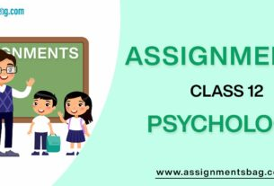 Assignments For Class 12 Psychology