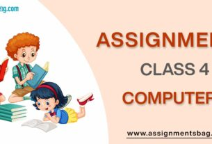 Assignments For Class 4 Computers