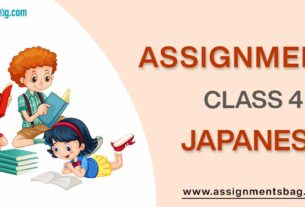 Assignments For Class 4 Japanese
