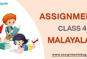 Assignments For Class 4 Malayalam