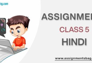 Assignments For Class 5 Hindi