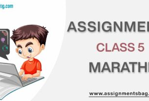 Assignments For Class 5 Marathi