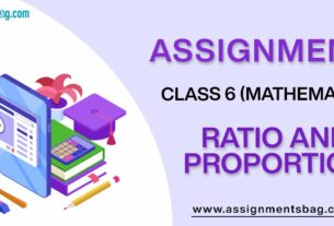 Assignments For Class 6 Mathematics Ratio And Proportion