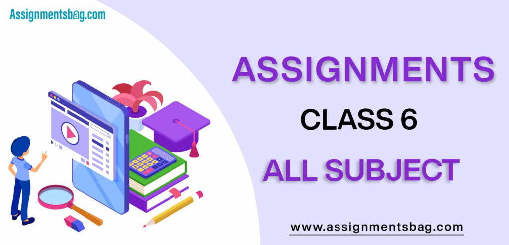 Assignments For Class 6 all subject