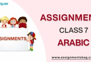 Assignments For Class 7 Arabic