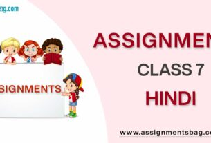 Assignments For Class 7 Hindi