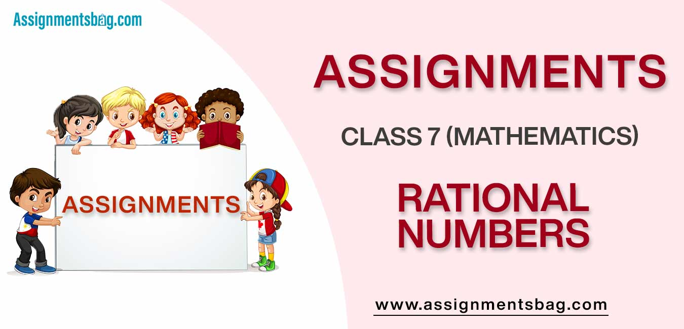 Assignments For Class 7 Mathematics Rational Numbers