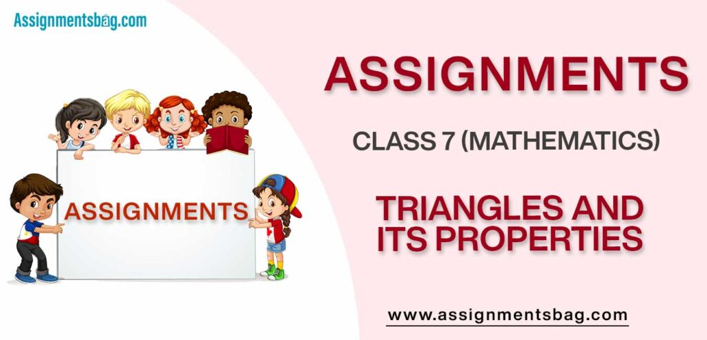 Assignments For Class 7 Mathematics Triangles And Its Properties