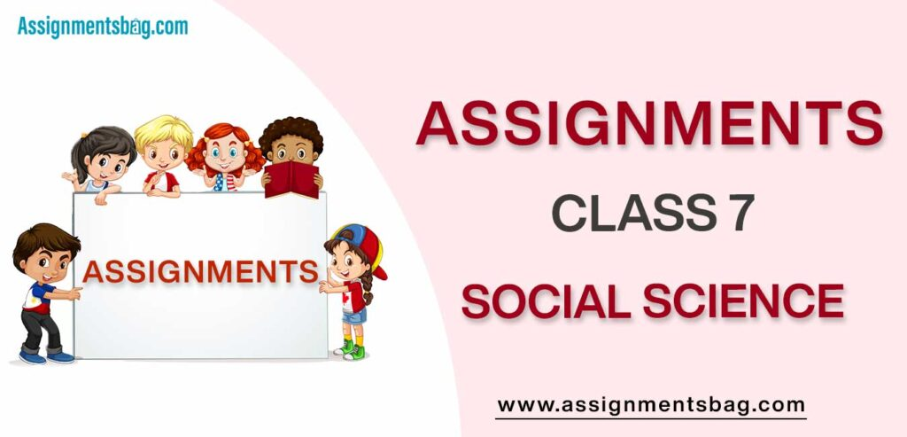 Assignments For Class 7 Social Science