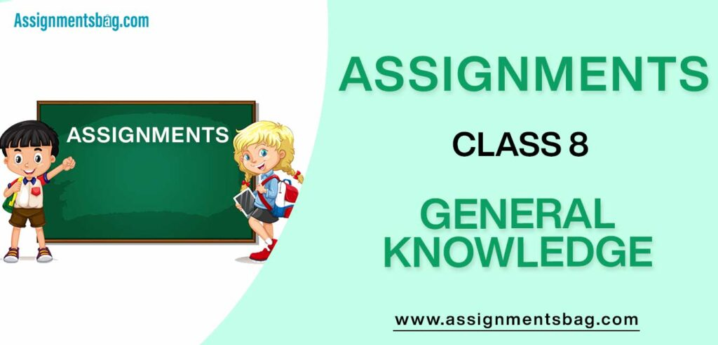 Assignments For Class 8 General Knowledg