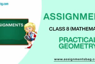 Assignments For Class 8 Mathematics Practical Geometry