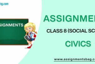 Assignments For Class 8 Social Science Civics