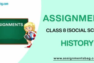 Assignments For Class 8 Social Science History