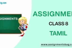 Assignments For Class 8 Tamil