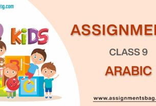 Assignments For Class 9 Arabic