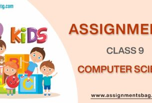 Assignments For Class 9 Computers science
