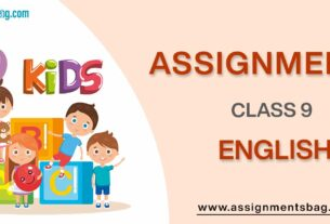 Assignments For Class 9 English