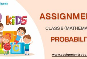 Assignments For Class 9 Mathematics Probability