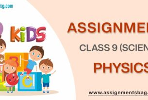 Assignments For Class 9 Physics