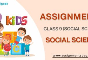 Assignments For Class 9 Social Science