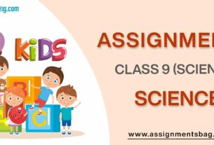 Assignments For Class 9 science
