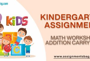 Math Worksheet Addition Carry Over Assignments Download PDF