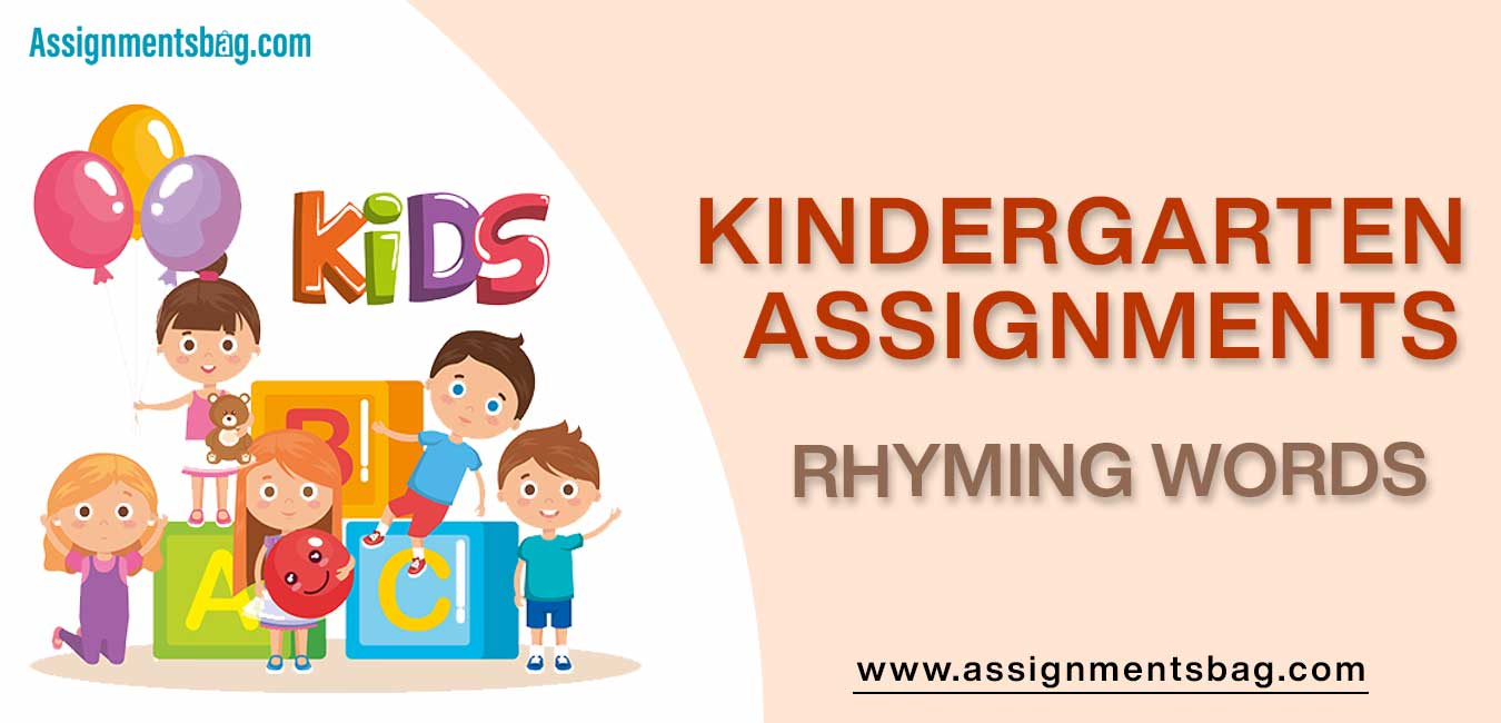 Rhyming Words Assignments Download PDF