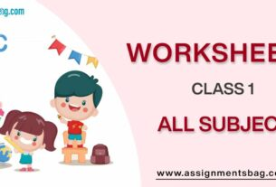 Worksheets For Class 1 Download PDF